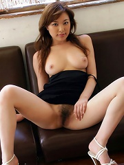 Yua Aida beautiful girl spreads her legs and flashes her pussy